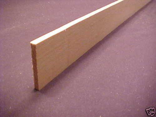 "1//4 x 2 x 23/"" Basswood Model Lumber strip wood flat stock carving trim 1pc"