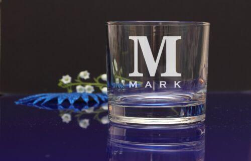 Personalised initial gravé whisky verre anniversaire cadeau de noël cadeau 33