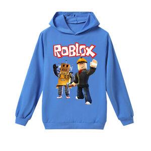 New Roblox Boys Long Sleeve Hoodie T Shirt Top Ebay