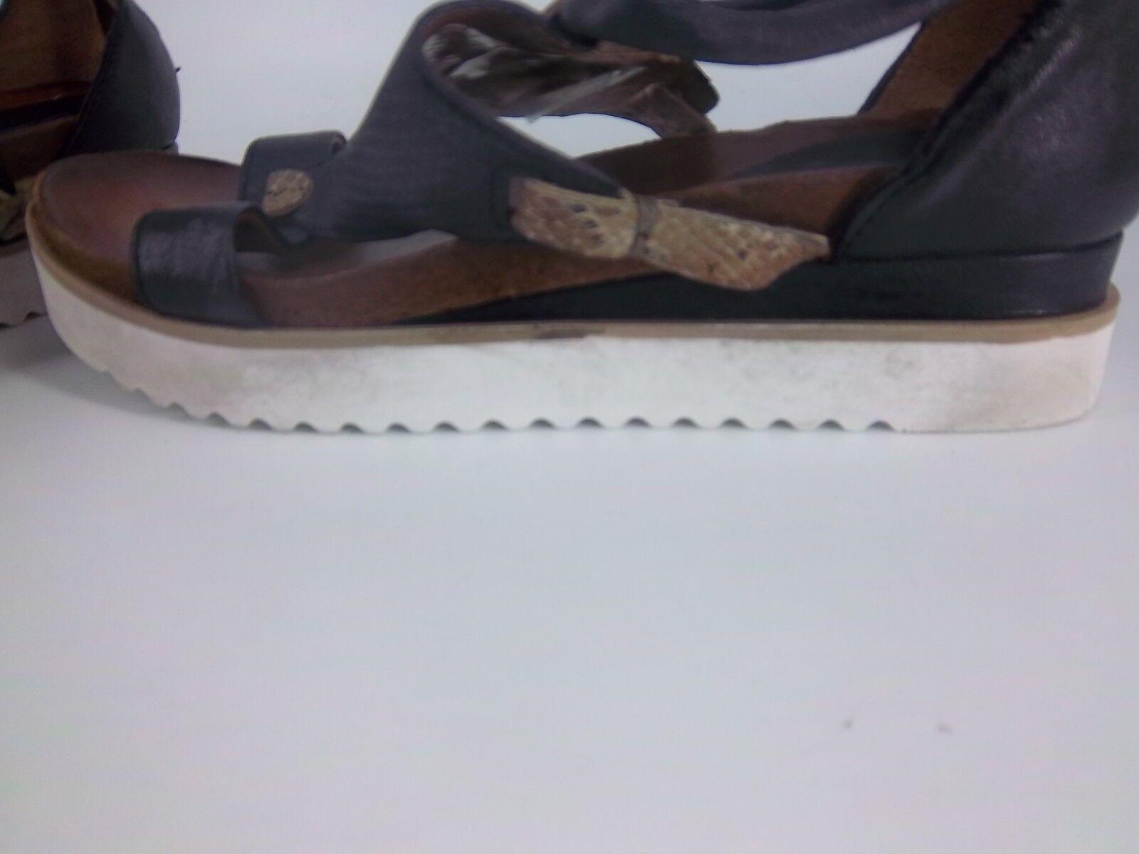 Sandalias Arizona Perforado Cuña Black Size NH087 DD 09
