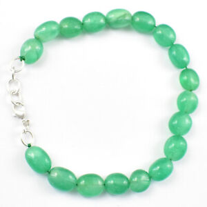 Untreated 54.00 Cts Earth Mined Green Emerald Beads Bracelet Wholesale Price