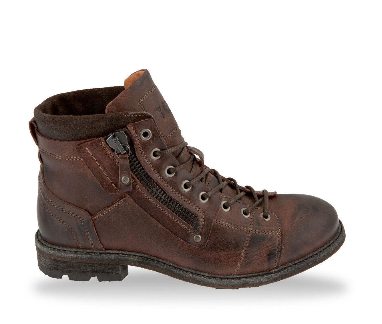 amarillo Cab zapatos caballero zapatos schnürzapatos botas Engine y15300 dark marrón