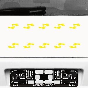 10 Paire 20 Pieds 5 Cm Jaune Autocollant Tatouage Enfants Elfes Petites Jambes Pied Deco Diapositive-afficher Le Titre D'origine