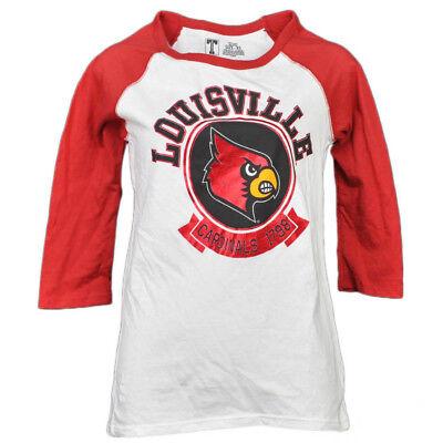 Baseball & Softball Ncaa Louisville Cardinals 1798 Folie Logo Mitte Ärmel T-shirt Damen Erwachsene Schrecklicher Wert