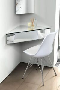 Image Is Loading Floating Mirrored Shelf Venetian Gl Furniture Corner Bedside