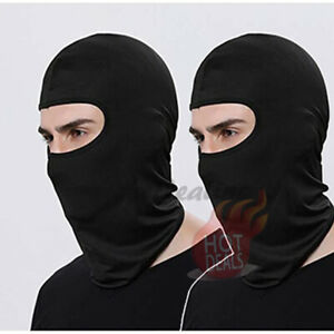 2-Pack-Men-039-s-Black-Face-Mask-100-Cotton-Ski-Motorcycle-Bike-Balaclava
