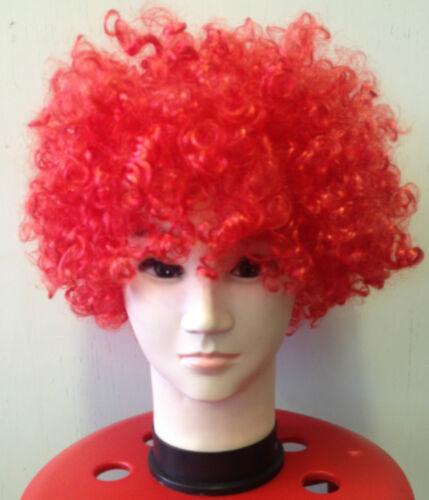 CHOOSE* CURLY AFRO FANCY DRESS WIGS FUNKY DISCO CLOWNS COSTUME HAIR FLOURECENT