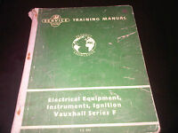 Vauxhall Victor F FD FS FW Service Training Workshop Manual Electrical Ignition