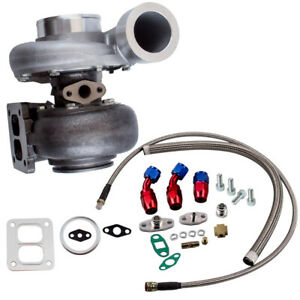 GT45-T4-V-Band-1-05-A-R-Universal-Turbo-Charger-Oil-Drain-Feed-amp-Return-Line