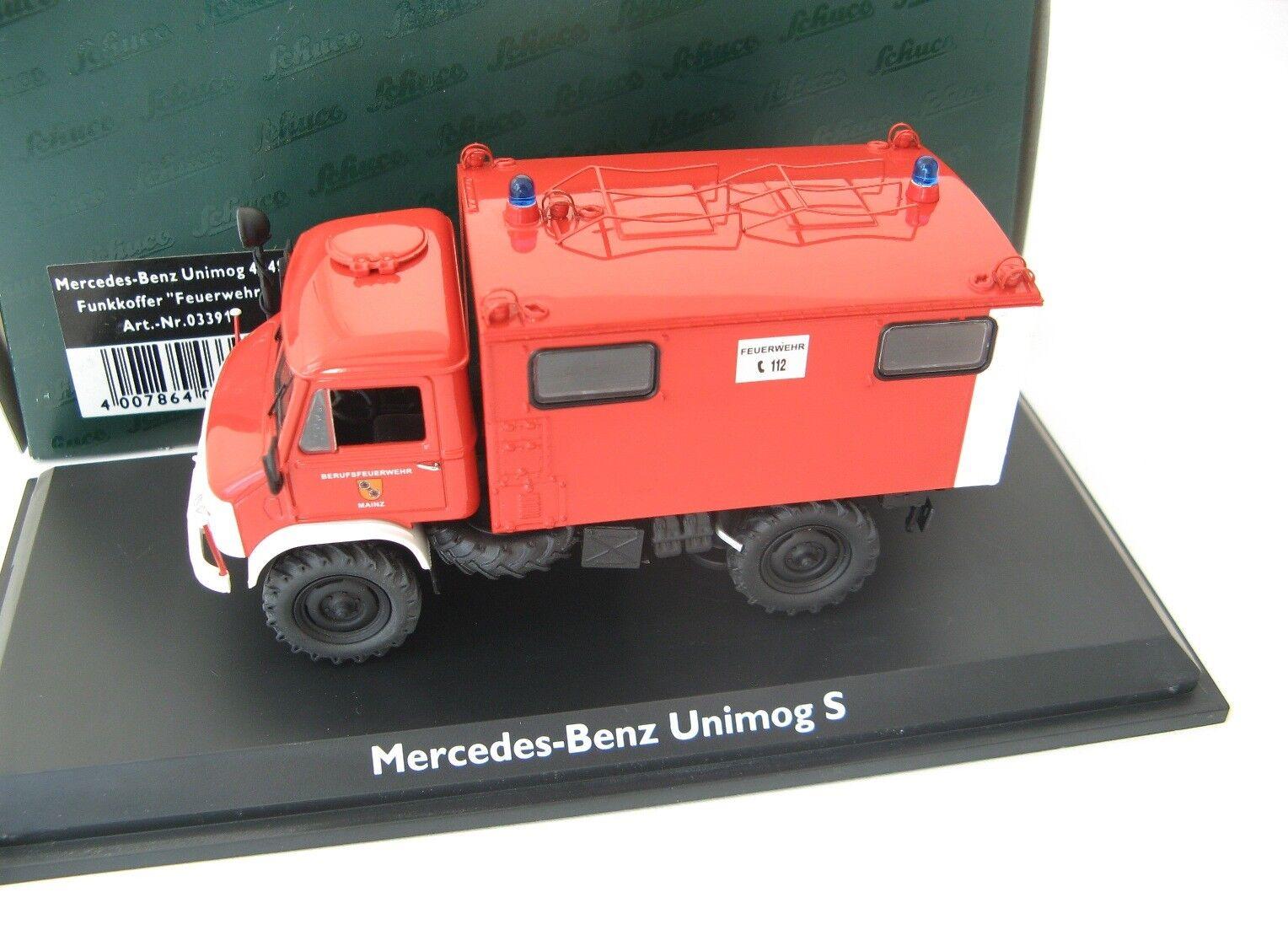 Mercedes-Benz Unimog 404 S 1956  Feuerwehr  1 43 Schuco RARE