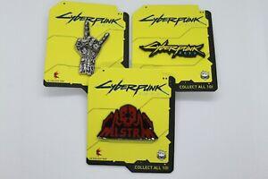 Cyberpunk 2077 enamel pins set of 3