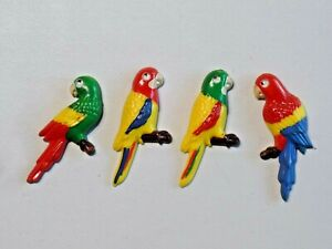 Vintage-Lot-of-Parrot-Googly-Eyes-Refrigerator-Magnets-Colorful-Eyes-Move