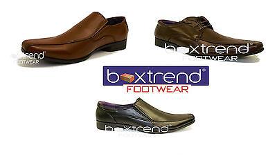 Para Hombre Nuevos Zapatos £ 7.95 inteligente trabajo Boda Marrón Negro Casual Talla Encaje Slip On