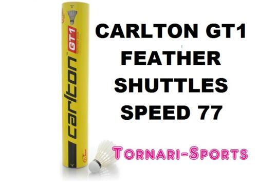5 x CARLTON GT1 speed 77 FEATHER SHUTTLES SHUTTLECOCKS 5 x TUBES OF 12 SHUTTLE