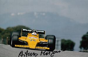 Arturo-Merzario-mano-firmato-Ford-Cosworth-FOTO-12X8