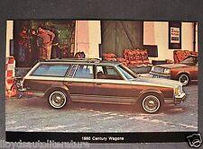 1980 Buick Century Station Wagon Postcard Sales Brochure Excellent Original 80
