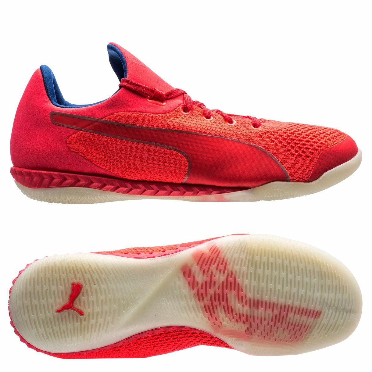 Puma 365 EvoKnit Ignite 2017 IT Indoor   Training Soccer shoes  Coral Red   Pink