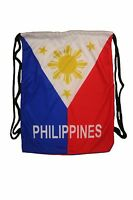 Philippines Country Flag Drawstring Knapsack Bag Size : 14 X 18 Inches