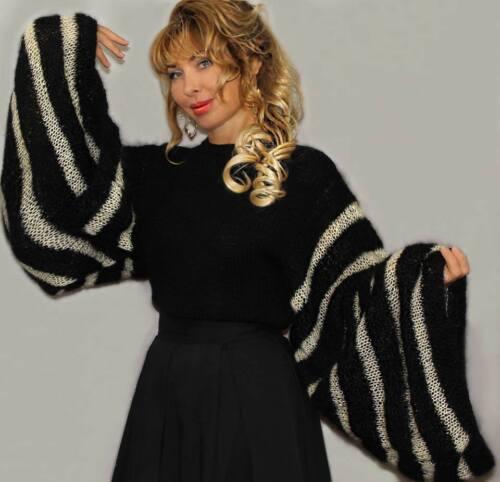 Sweater New Eve Year Strikket Designer Håndlavet Til wxOqzH7E7