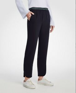 Taylor Dolphin 00 Ann Navy Pants Nwt Nuovo Hem Pull On 89 Blu 5qSwCxwBE