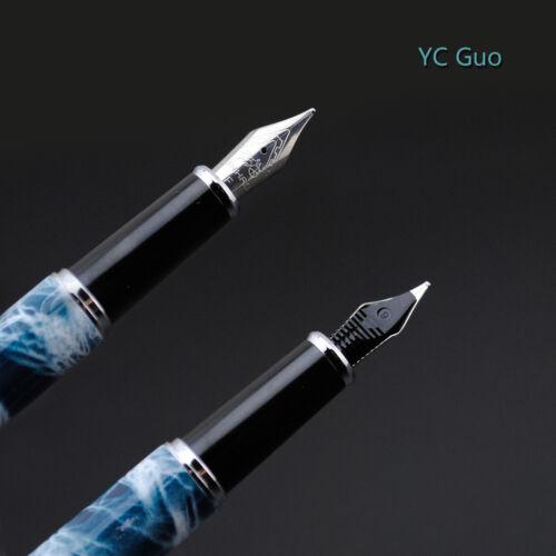Jinhao 156A Fountain Pen Fine Nib Mable Blue