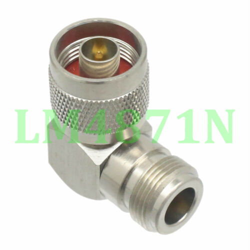 10pcs Adapter 90° N plug male to N female jack RF connector right angle M//F