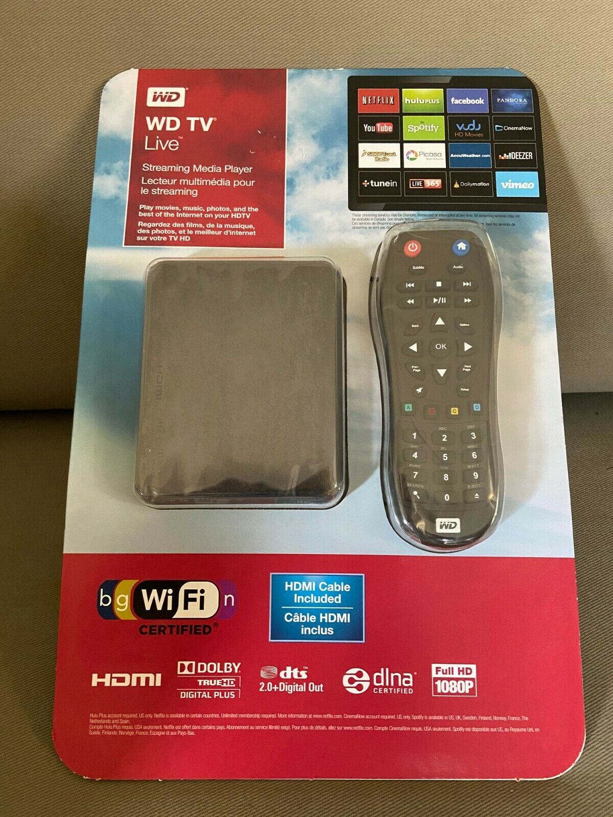 WD TV Live Streaming Media Player Wi-Fi 1080p Brand New Sealed 1080p brand live media new player sealed streaming