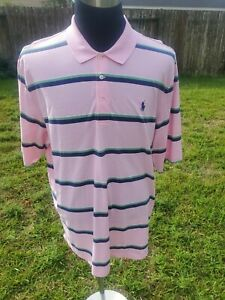 Polo-Ralph-Lauren-Mens-Polo-Shirt-Big-Pony-Size-XXL-Tall-Pink-Multicolored