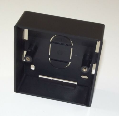 BLACK Single Gang BACKBOX 32mm Deep PVC Wall Mount Pattress Back Box 1 GANG