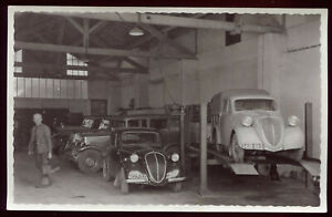 photo ancienne un garage de Côte d'Or ou Saône-et-Loire. automobile ancienne