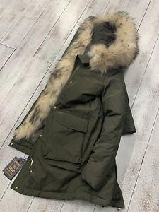 WOOLRICH-Donna-MILITARY-PARKA-VERDE-jacket-woman-ORIGINALE-LIST-1150-00-SALDI