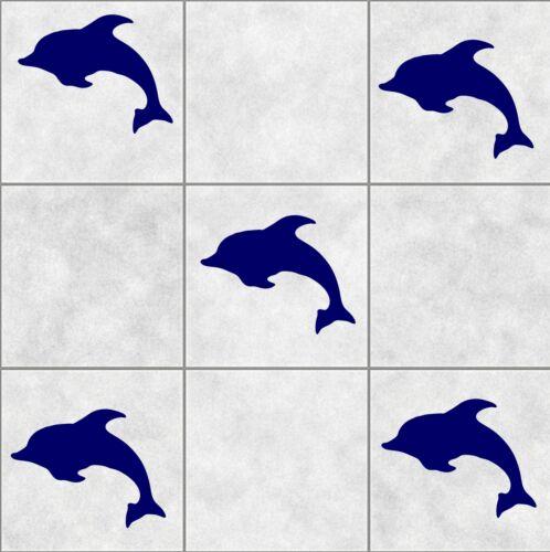 24x Dolphin Azulejo pegatinas Baño Pared Arte Etiqueta Decoración Cocina Baño