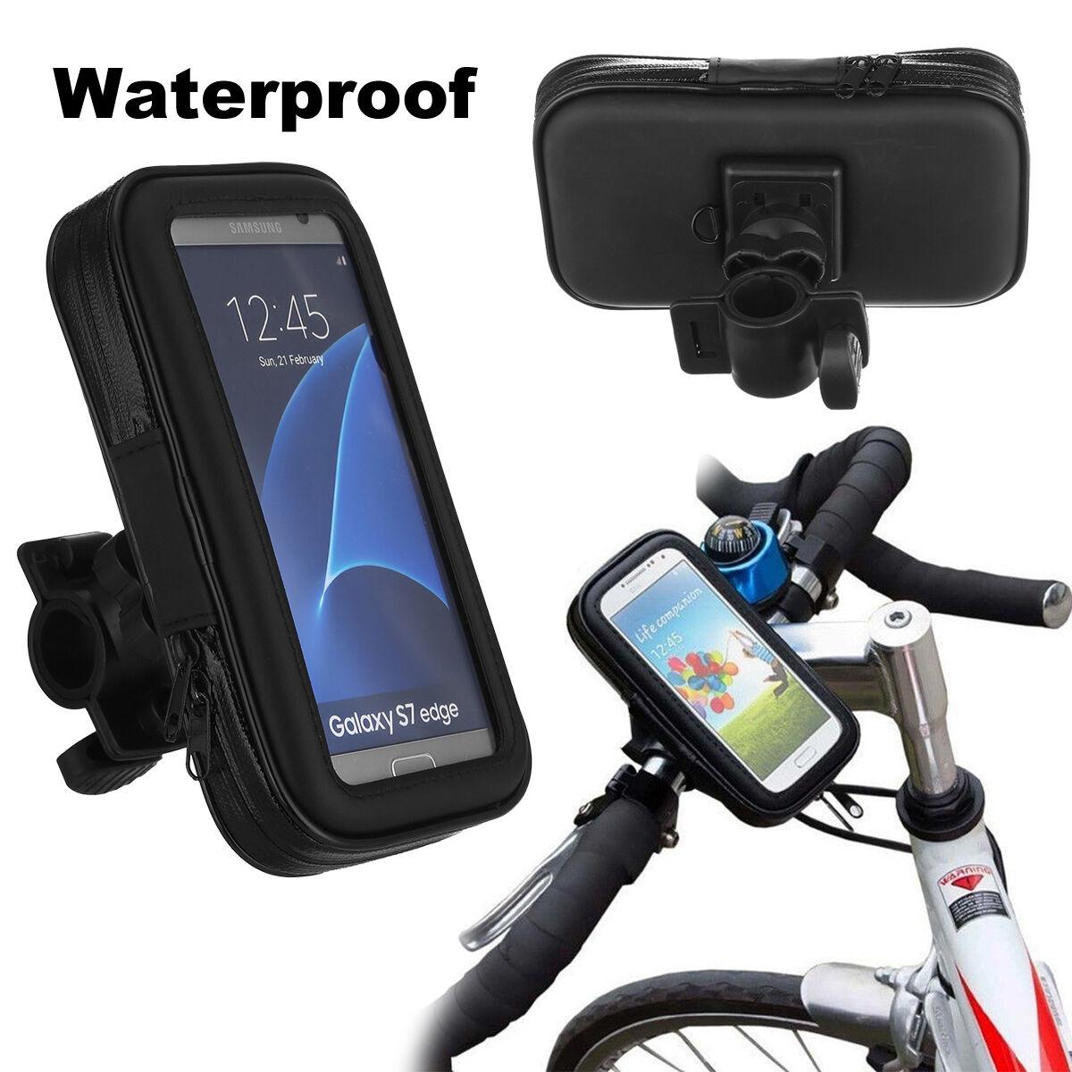 Bicycle Phone Mount >> Waterproof Motorcycle Bike Bicycle Handlebar Mount Holder Case For