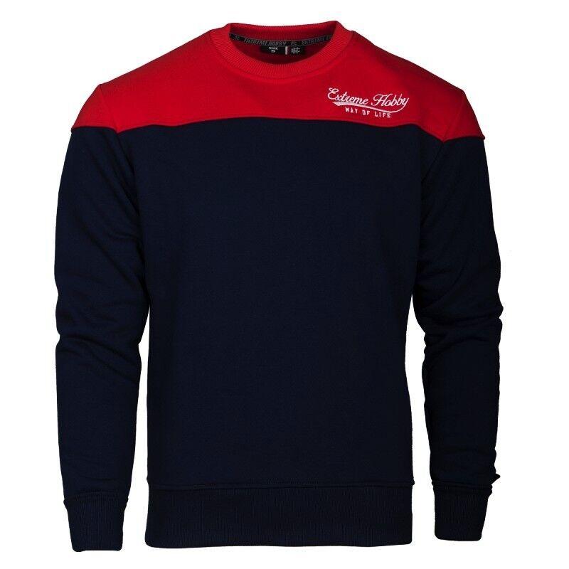 Extreme Hobby Herren Sweatshirt TAIL marine/rot