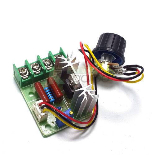 50-220V SCR Voltage Regulator 2000W Switch Motor Speed Controller Potentiometer