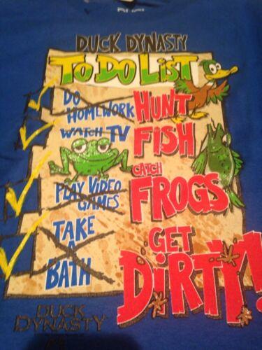 DUCK DYNASTY T Shirt NEW Size XS Robertson Family Calls Do List Commander Boys