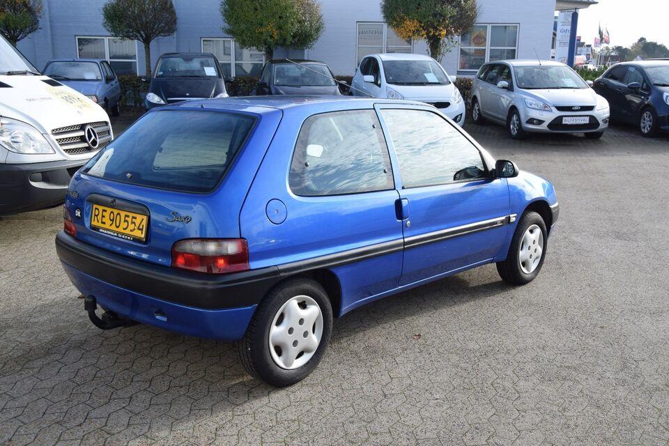 Citroën Saxo 1,1 Van Benzin modelår 1999 Blå km 112000