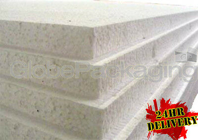"12 x EXPANDED 1"" POLYSTYRENE FOAM SHEETS 2400x1200x25mm"