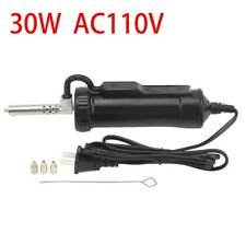 30w Ac 110v Electric Vacuum Solder Sucker Iron Tooldesoldering Pump Repair Kit