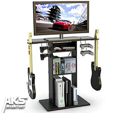 TV Stand Video Game Storage Media Center Furniture Organizer Games Console Table