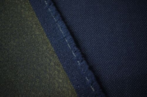 "Vintage Navy Blue Tweed Automotive Seat Cover Fabric Upholstery Auto 55/""W"