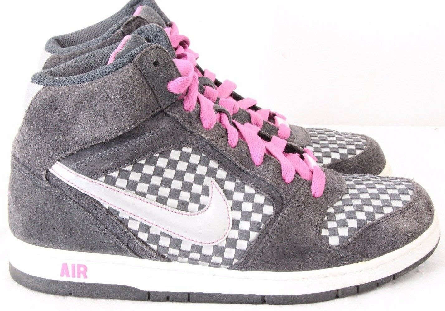 Nike 349443-001 Air Prestige III High Woven Checkered Sneakers Women's US 9.5