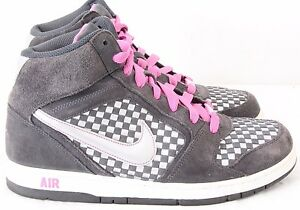 Nike 349443-001 Air Prestige III High Woven Checkered Sneakers Women