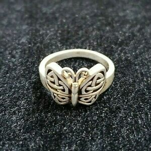 Peter Stone PSCL Sterling Silver Celtic Knot Butterfly Ring - Size 6 [011WEIR]