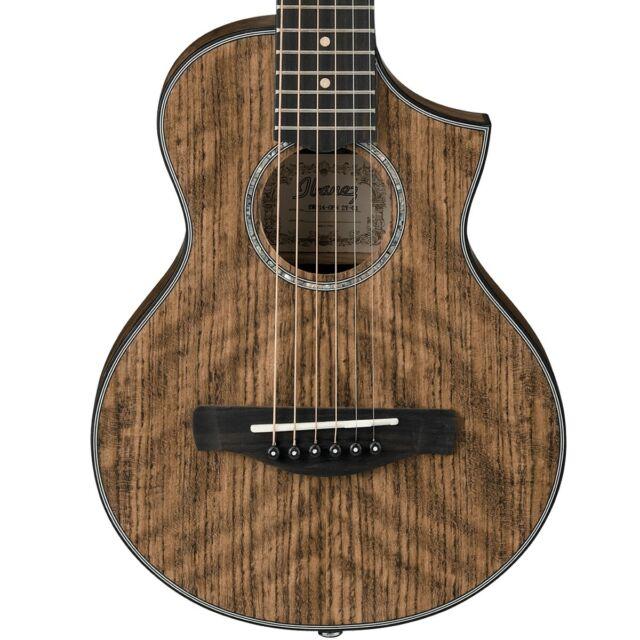 Ibanez Ewp14 Acoustic Piccolo Guitar Open Pore Natural For Sale Online Ebay