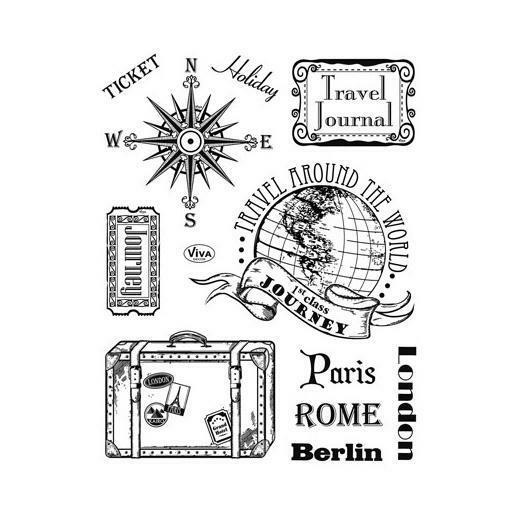 Viva Decor A5 Clear Silicone Stamps Set - Paris, Rome, Berlin #113