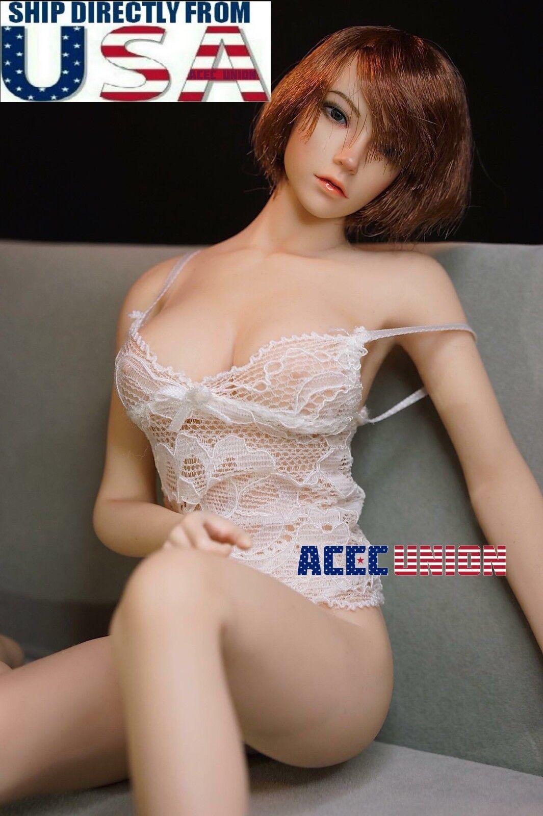 PHICEN 1 6 Super-Flexible Short Hair Female Beauty Seamless Figure Doll Set USA