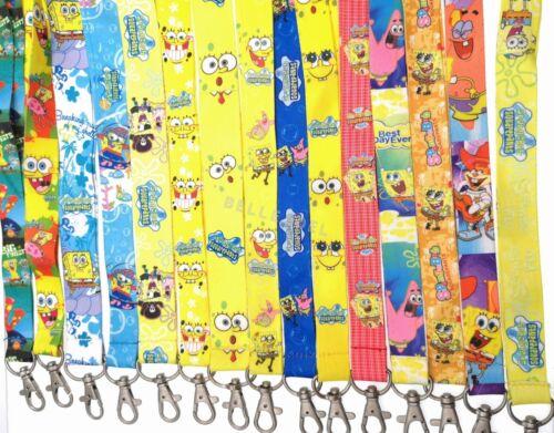 Lot dessin animé Bob l/'éponge Anime bandoulières Porte-Clés Lanyard ID titulaire a69