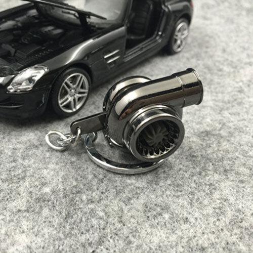 Turbo Keychain Spinning Turbine Key Chain Ring Keyring Keyfob