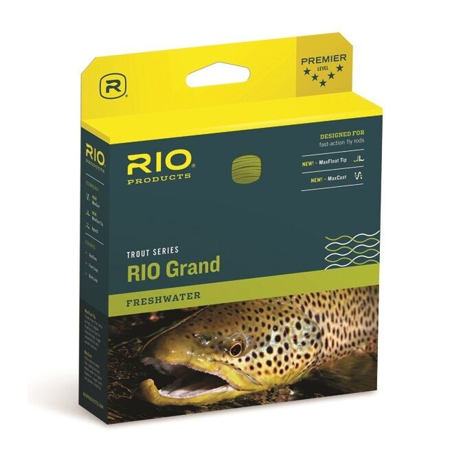RIO GRAND Fly Line - WF6F - color Pale Green Lt.Yellow - New